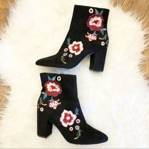 Express | Floral Embroidered Booties